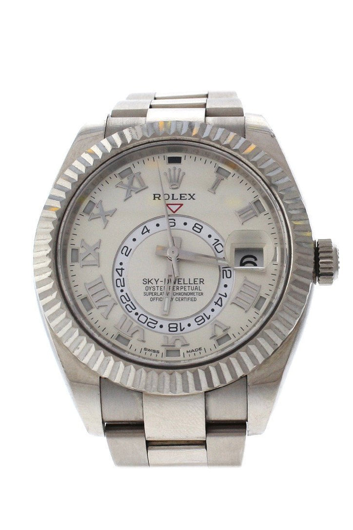 ROLEX 326939 Sky Dweller Ivory Dial White Gold Mens Watch| WatchGuyNYC