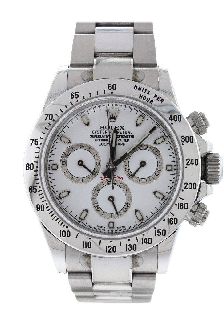 Rolex Cosmograph Daytona White Dial Stainless Steel Oyster Automatic Mens Watch 116520 / None