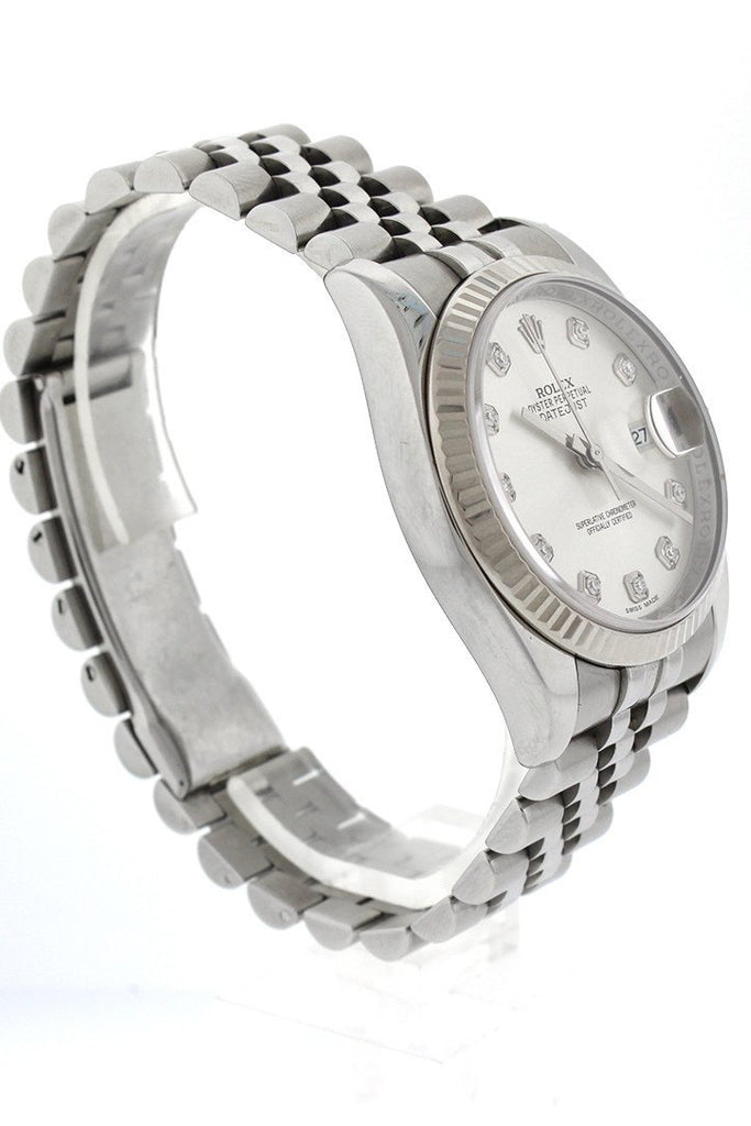 Pre Owned Rolex Datejust 36 18k White Gold 116234 Pre Owned| WatchGuyNYC