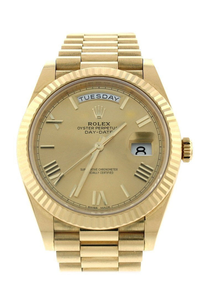 Rolex Day-Date 40 Champagne Roman Dial 18K Yellow Gold President Automatic Mens Watch 228238 / None