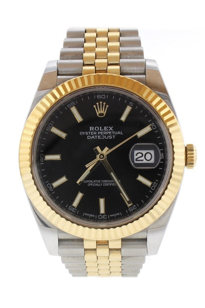 Rolex Datejust 41 Black Dial 18K Yellow Gold And Steel Watch 126333 / None Pre-Owned-Watches