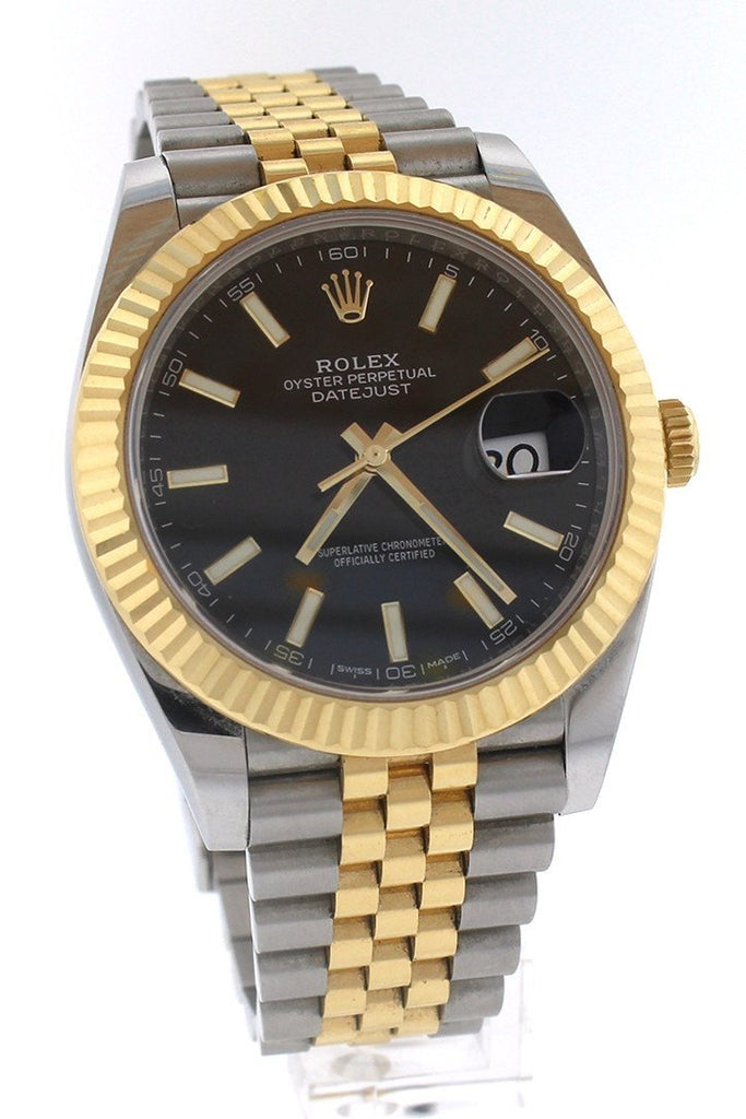 ROLEX Datejust 41 Black Dial 18K Yellow Gold and Steel Watch 126333