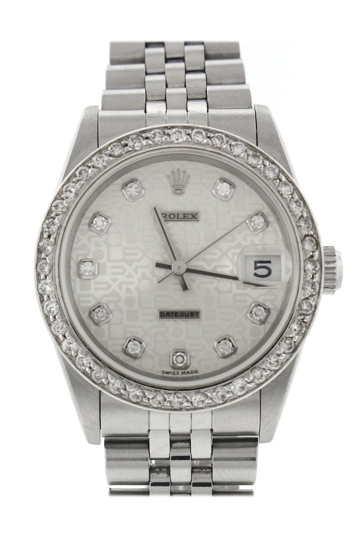 Rolex Datejust Lady 31 Silver Diamond Dial Diamond Bezel Ladies Watch 178274