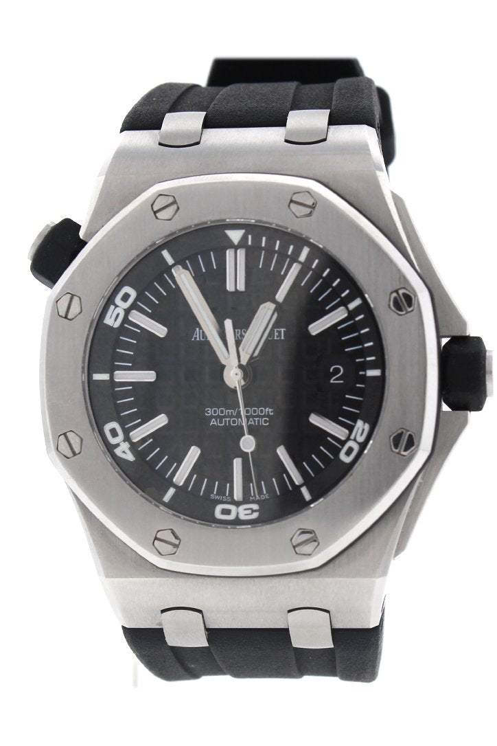 Audemars Piguet Royal Oak Offshore Diver Black Dial Automatic Mens Watch 15703St.oo.a002Ca.01 / None