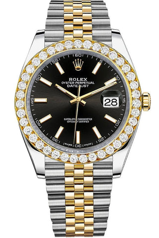 Rolex Custom Diamond Bezel Datejust 41 Steel Men 126333 | WatchGuyNYC.