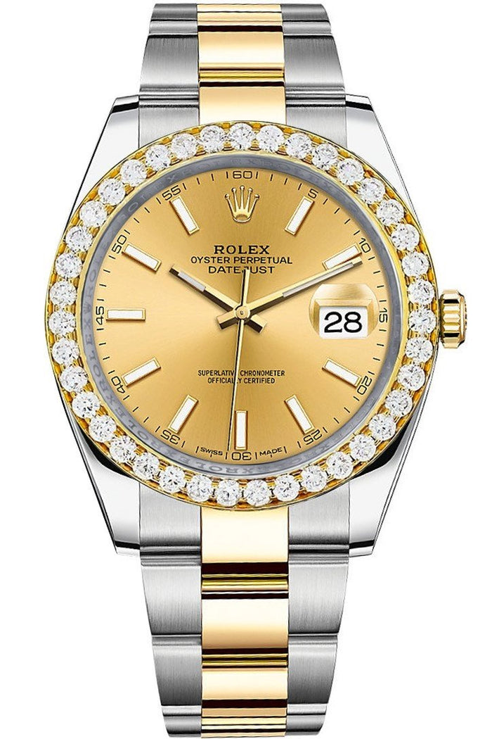Custom Diamond Bezel Rolex Datejust 41 Ladies 126333 | WatchGuyNYC