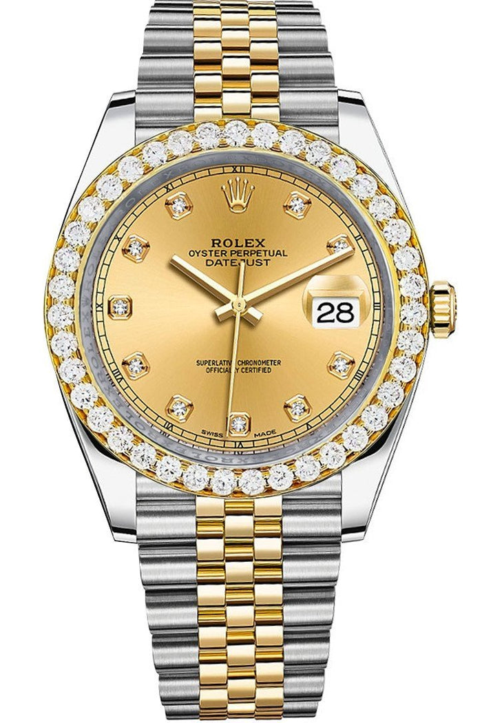 Rolex Custom Diamond Bezel Datejust 41 Steel Men 126333 | WatchGuyNYC