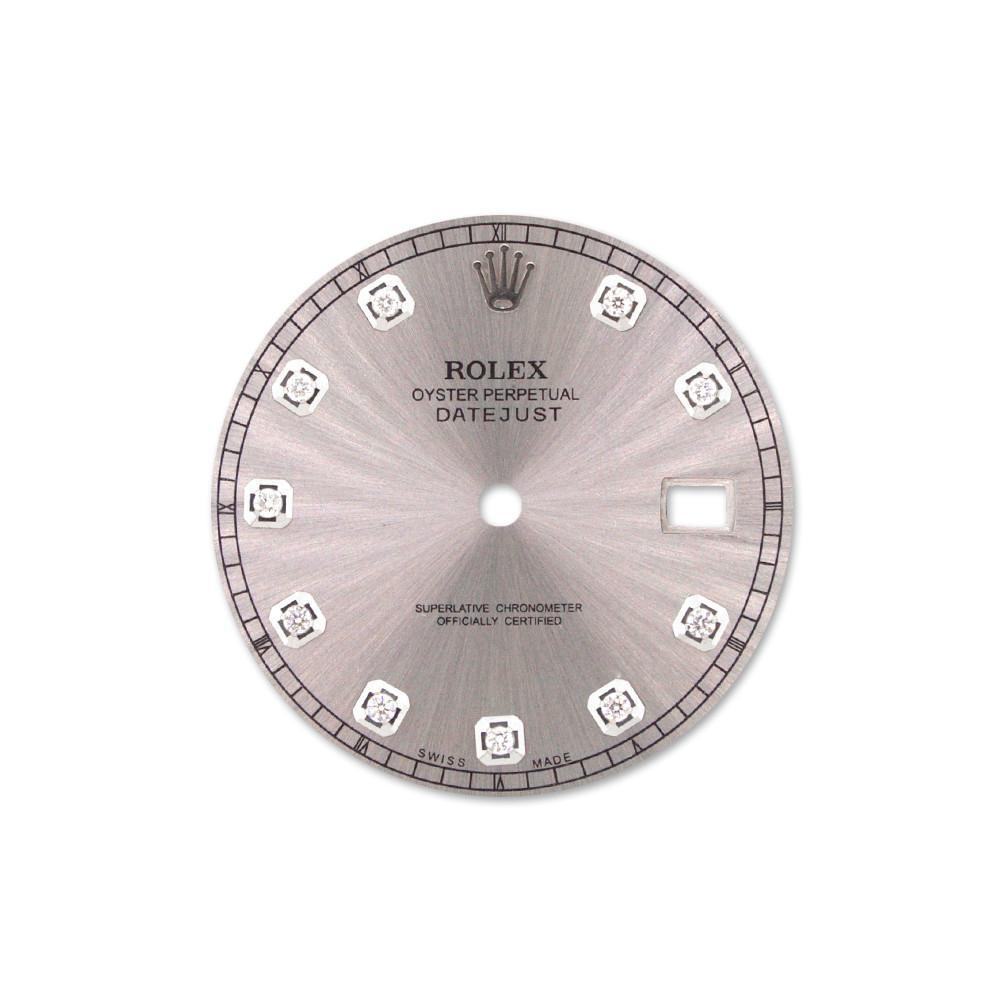 Rolex 41 Silver 10 Diamonds Custom Dial 04 / None Custom-Dial