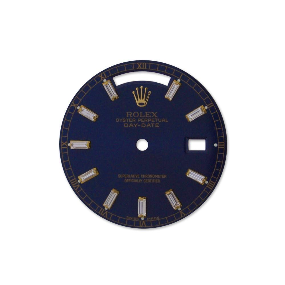 Rolex Custom Day-Date Navy Diamond Dial Dil 020 / None Custom-Dial