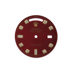 Rolex Custom Diamond Dial Dil 022 Red / None Custom-Dial