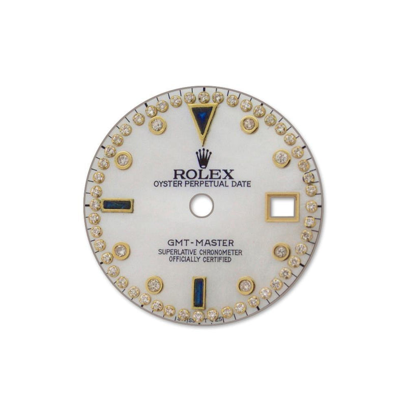 Rolex Custom Gmt-Master Diamond Dial Dil 027 Pearl / None Custom-Dial