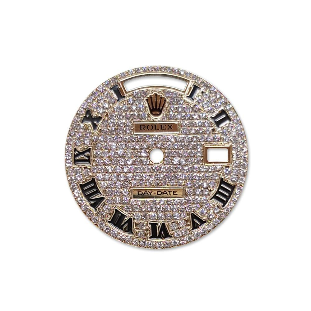 Rolex Custom Day Date Diamond Dial Dil 044 / None Custom-Dial