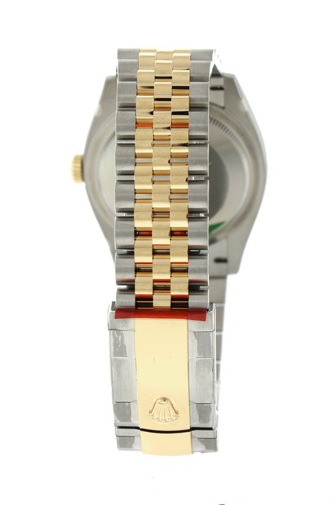 Rolex Datejust 36 Silver Set With Diamonds Dial Fluted Bezel Jubilee Yellow Gold Two Tone Watch