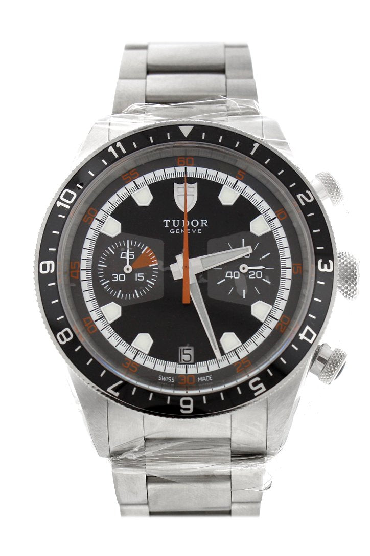 Tudor Heritage Chronograph Grey Dial Mens Watch 70330N