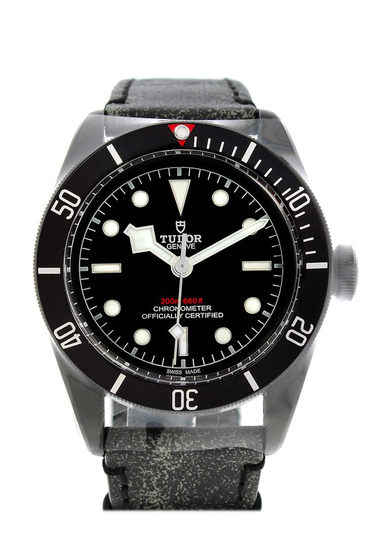 Tudor Heritage Black Bay Dark Automatic Leather Mens Watch 79230Dk