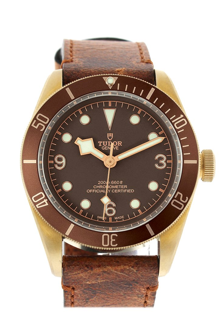 Tudor Heritage Automatic Bronze Dial Leather Mens Watch 79250Bm