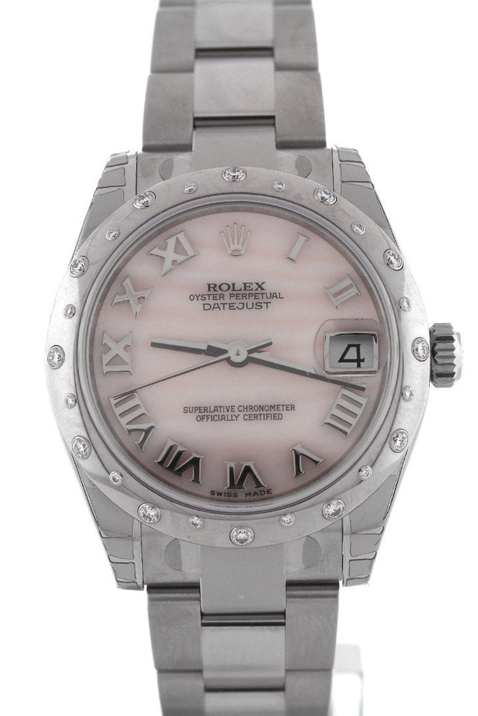 ROLEX 178344 Datejust 31 Pink Mother of Pearl Dial Ladies Watch | WatchGuyNYC