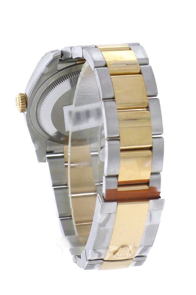 Rolex Datejust 36 Bronze floral motif Dial Fluted 18K Gold Two Tone Oyster Watch 116233