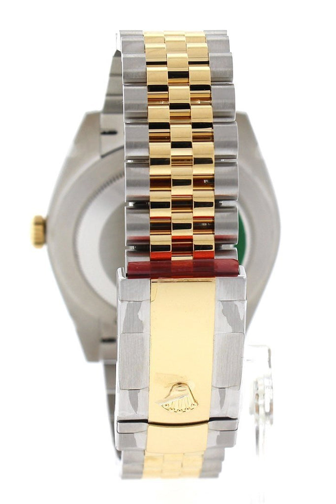 Rolex Datejust 41 Mother Of Pearl Diamond Dial Fluted Bezel 18K Yellow Gold Jubilee Mens Watch