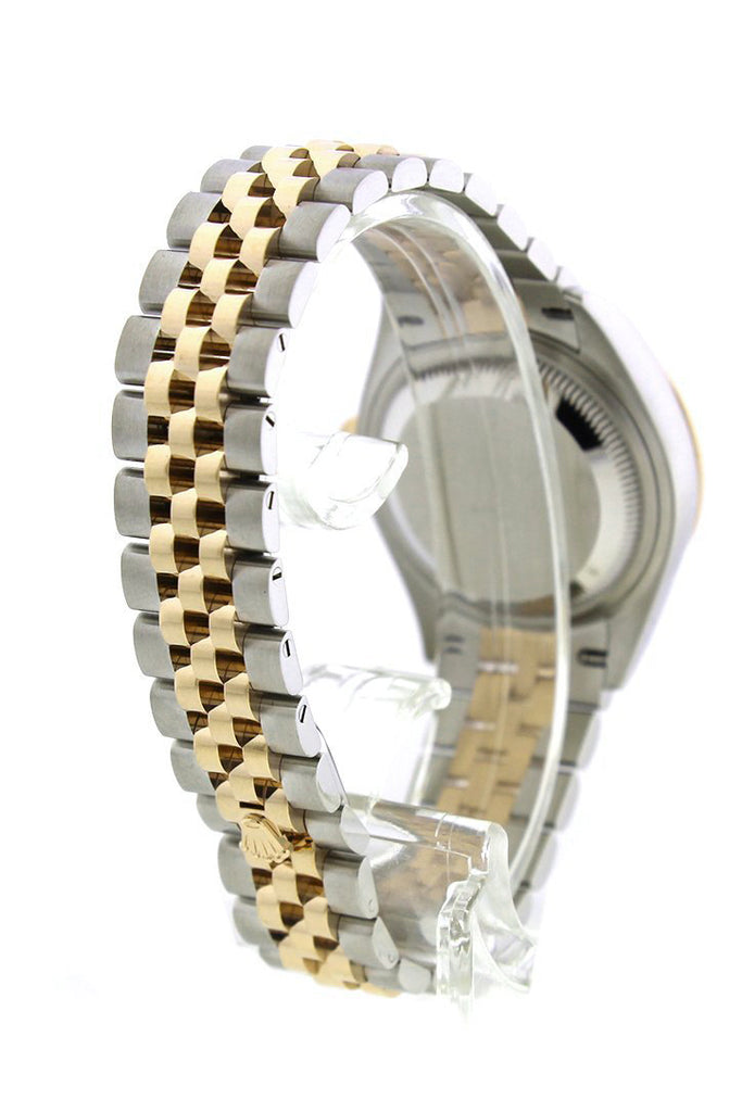 Rolex Datejust 28 White Roman Dial Diamond Bezel Yellow Gold Jubilee Ladies Watch 279383RBR 279383
