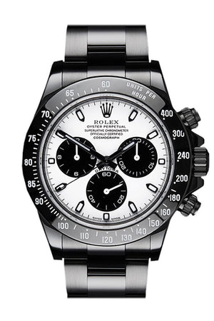 Rolex Black-Pvd Cosmograph Daytona White Dial Stainless Steel Black Boc Coating Oyster Mens Watch