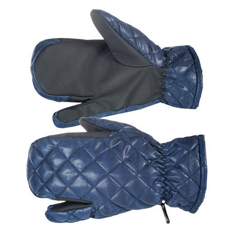 Quilted 3-finger Winter Gloves