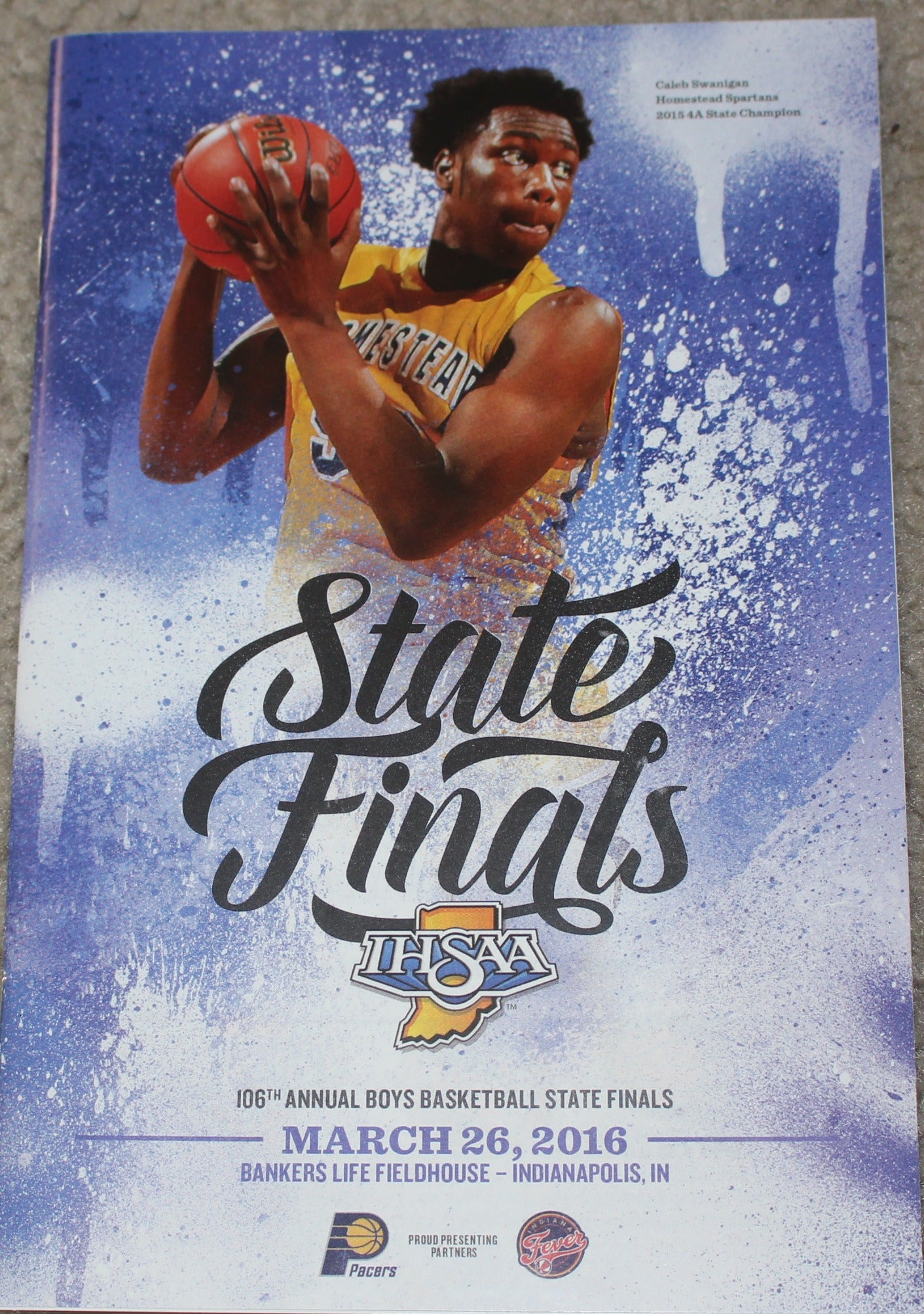 2016 Indiana High School Basketball State Finals Program