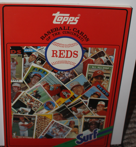 1987 Cincinnati Reds Topps Baseball Cards Book by Surf