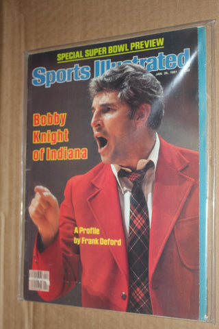 1981 Bob Knight Indiana University Basketball Sports Illustrated