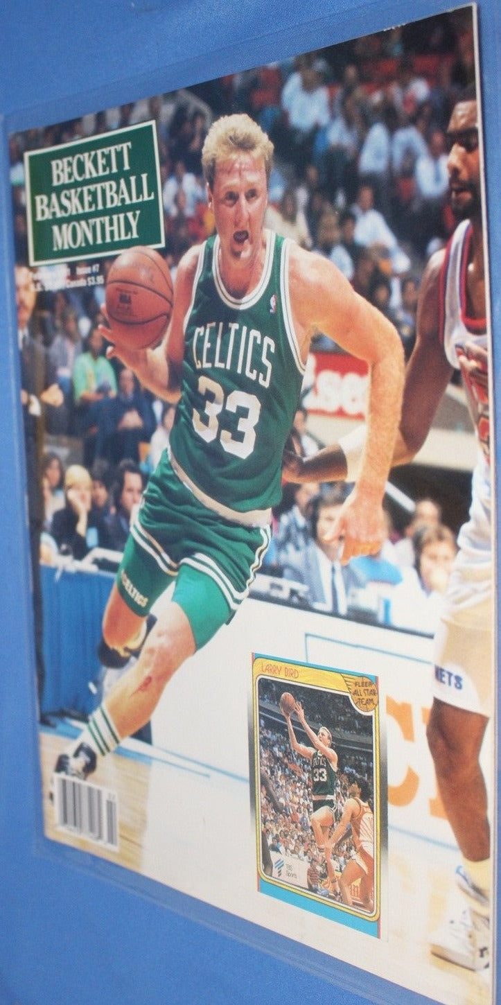 1991 Beckett Basketball Monthly, Larry Bird on Cover - Vintage Indy Sports