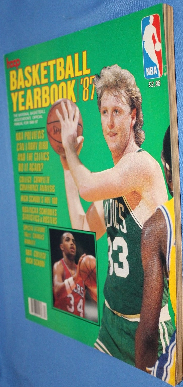 1987 Hoop Magazine, Larry Bird on Cover - Vintage Indy Sports