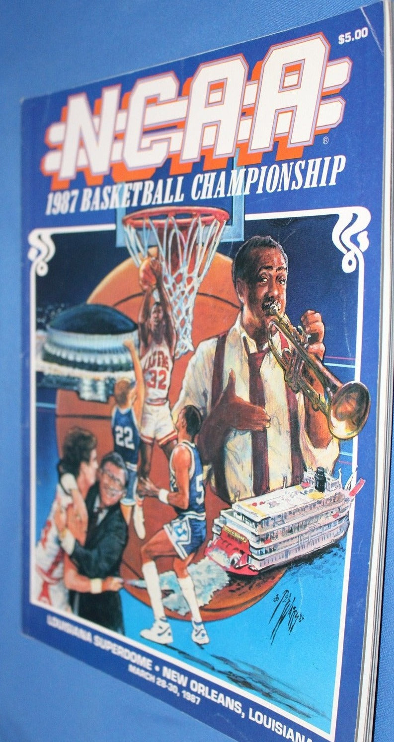 1987 NCAA Basketball Championship Program, Indiana Champs - Vintage Indy Sports