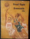 1966 Broad Ripple vs Greencastle Indiana High School Basketball Program - Vintage Indy Sports
