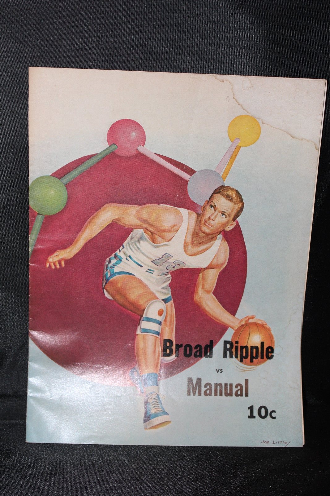 1967 Broad Ripple vs Manual Indiana High School Basketball Program - Vintage Indy Sports