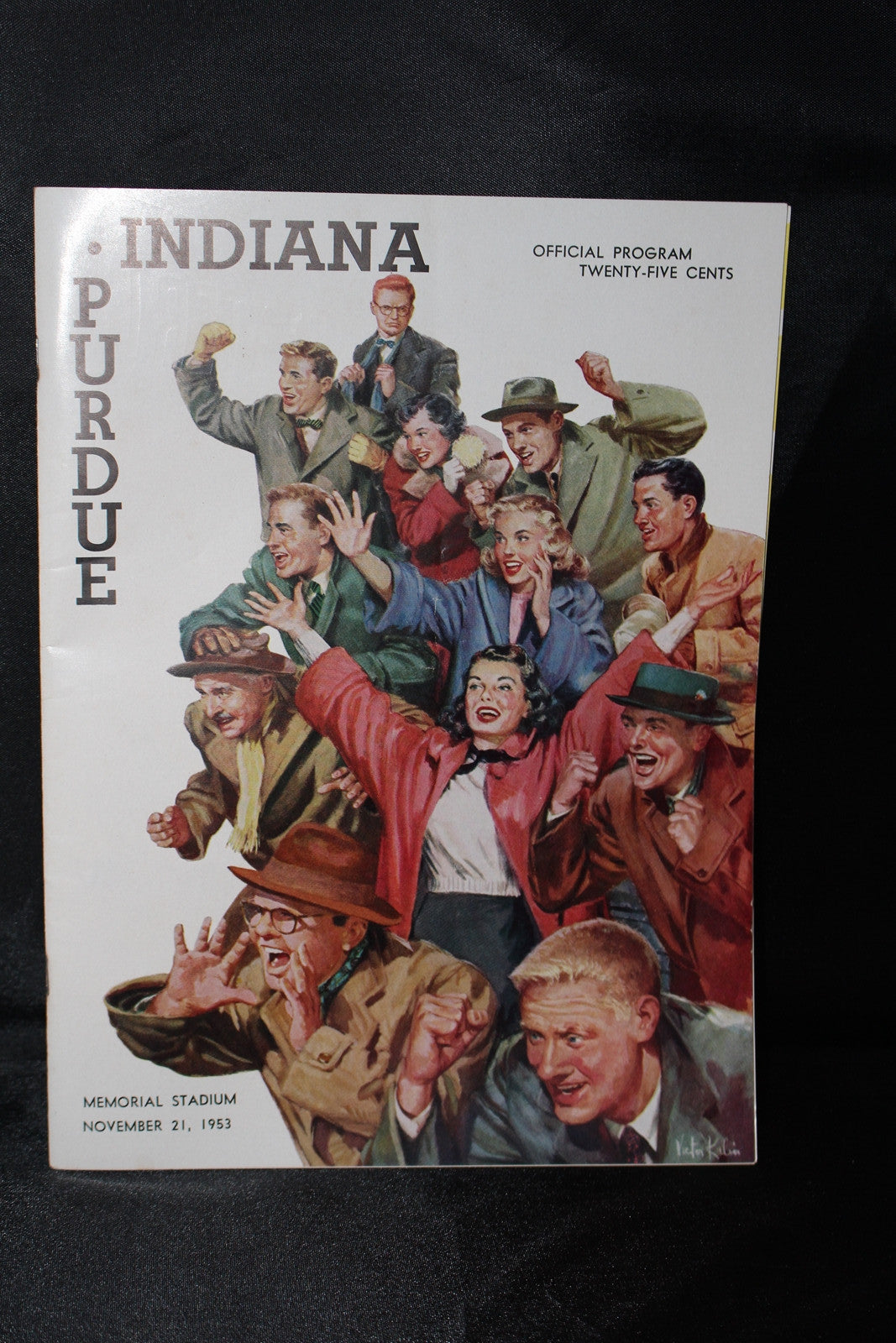1953 Indiana vs Purdue Football Program, Old Oaken Bucket Game - Vintage Indy Sports