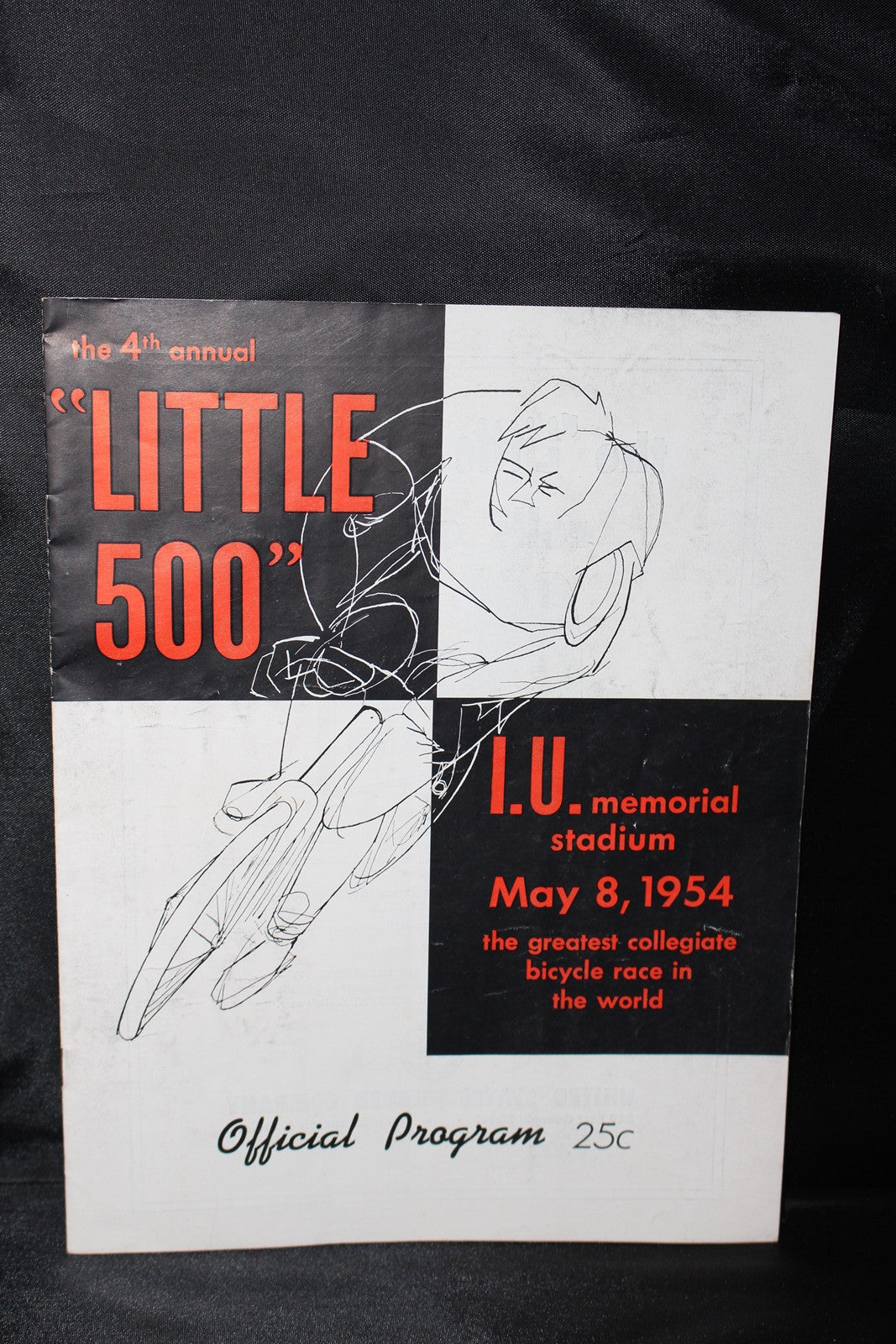 1954 Indiana University Little 500 Bicylce Race Program - Vintage Indy Sports