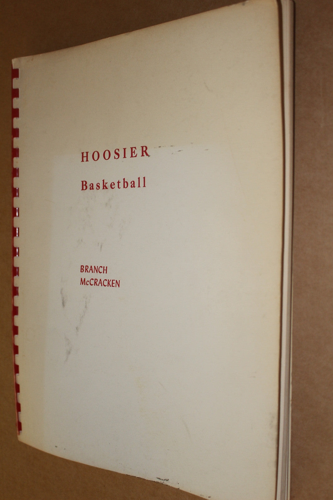 1970 Branch McCracken Hoosier Basketball Book - Vintage Indy Sports