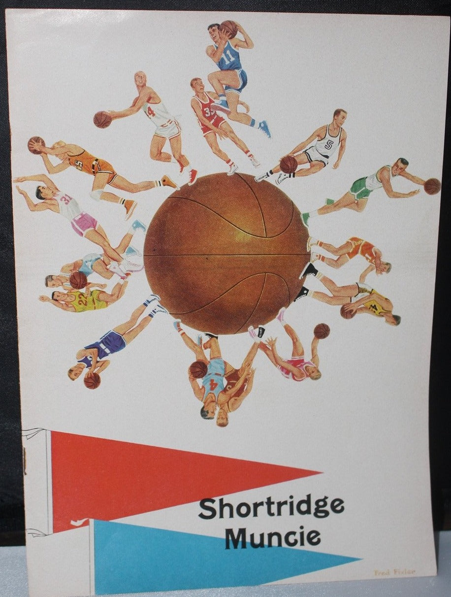 1963 Muncie Central vs Indianapolis Shortridge Basketball Program - Vintage Indy Sports
