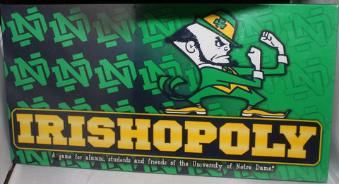 Notre Dame Irishopoly Board Game, New Sealed