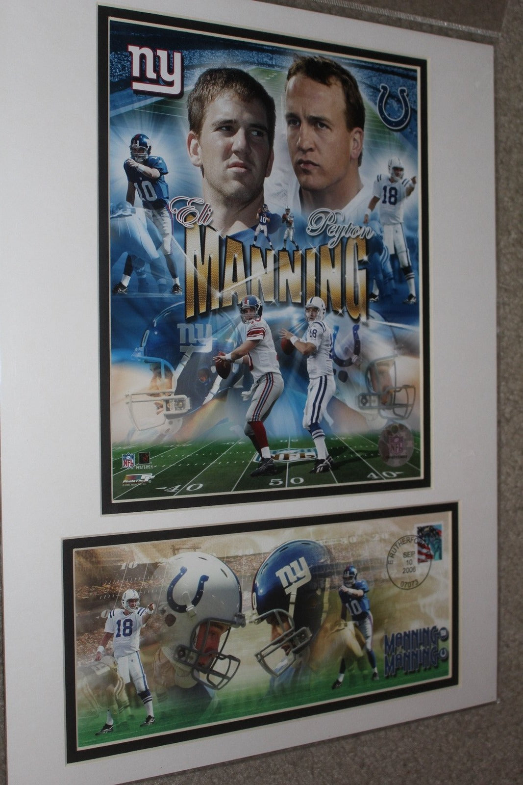 Sept 10, 2006 Eli & Peyton Manning First Day Cover - Vintage Indy Sports