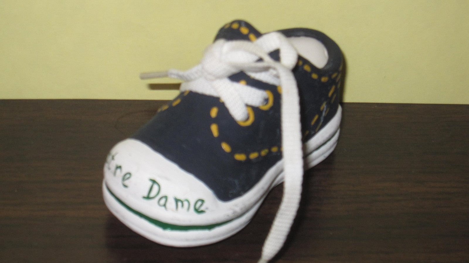 Notre Dame Hand Painted Ceramic Mini Basketball Sneaker - Vintage Indy Sports
