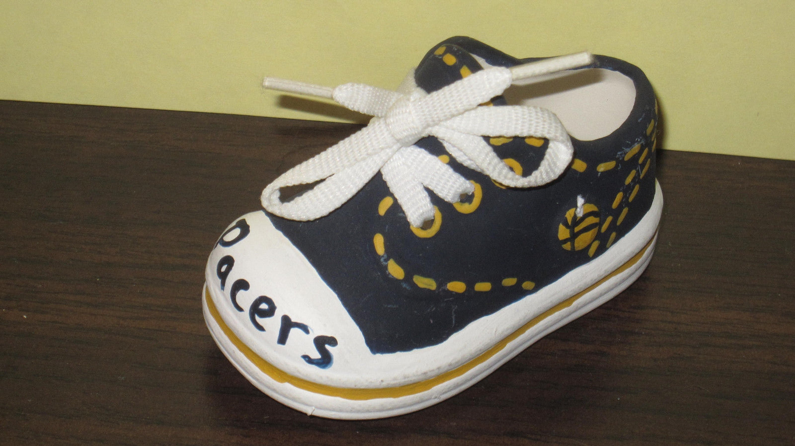 Indiana Pacers Hand Painted Ceramic Mini Basketball Sneaker - Vintage Indy Sports