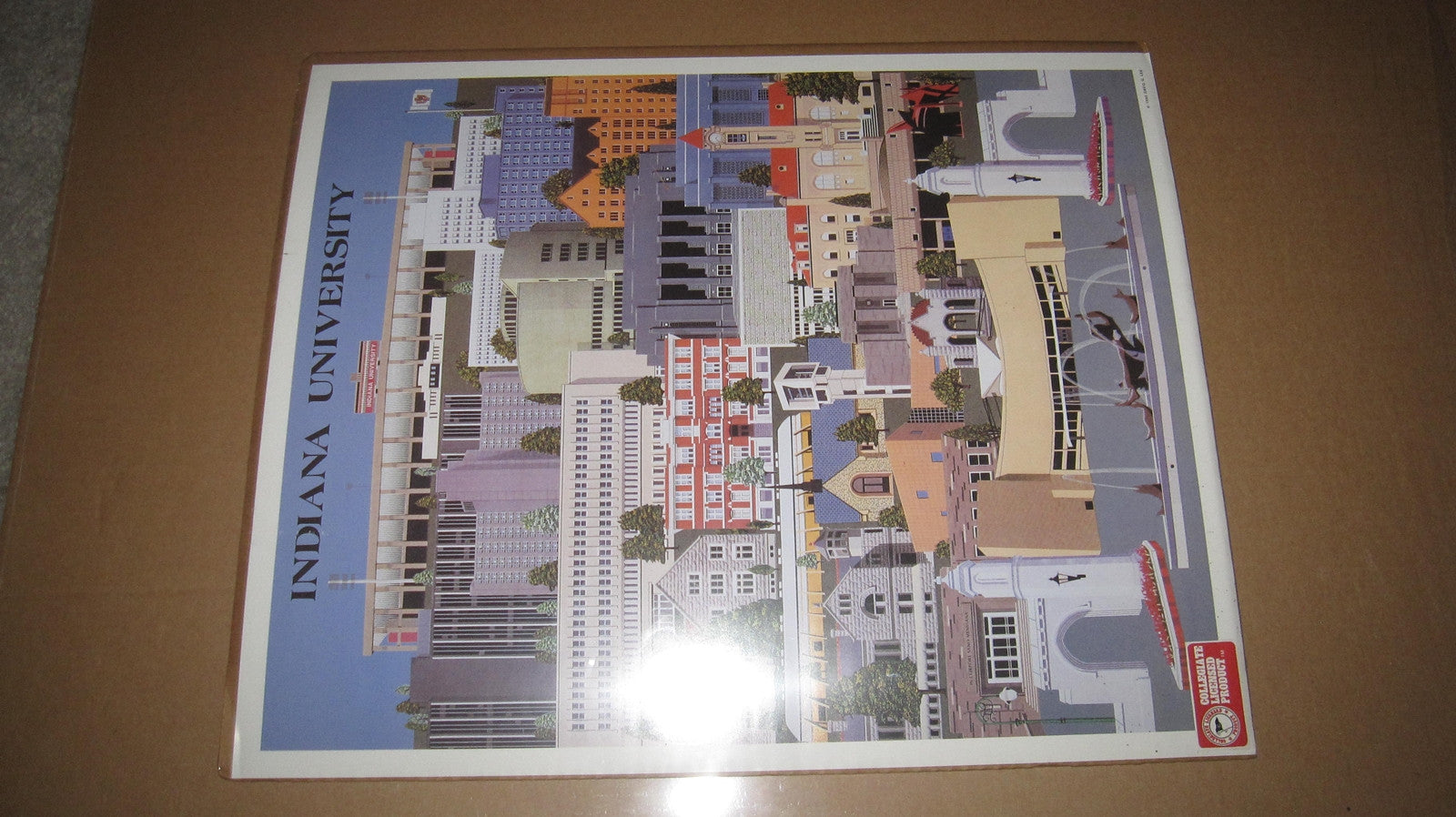 Indiana University 1990 David Lee Campus Print 16x20 - Vintage Indy Sports