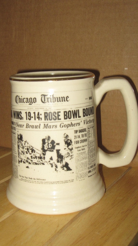 1967 Indiana Beats Purdue Headed to Rose Bowl Headline Mug - Vintage Indy Sports