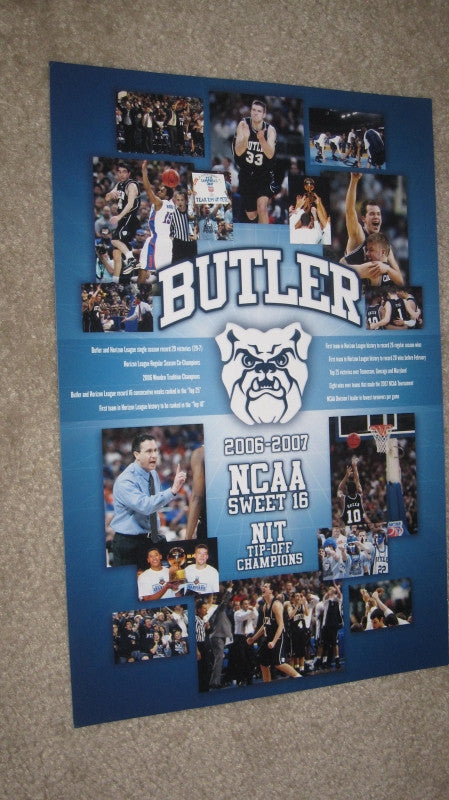 2006-07 Butler University Basketball Poster - Vintage Indy Sports