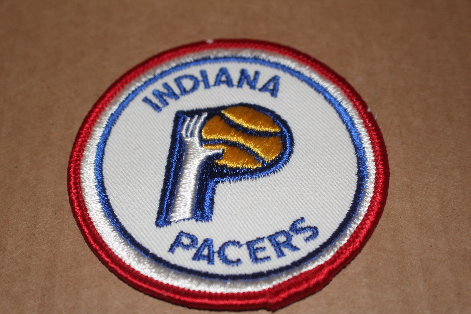 Vintage Indiana Pacers ABA Basketball Patch - Vintage Indy Sports
