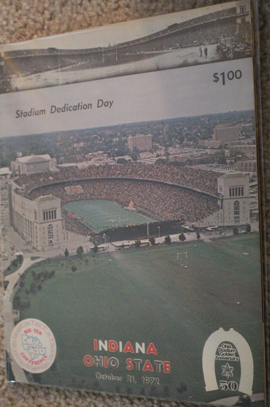 1972 Indiana vs Ohio State Football Program, OSU Stadium Dedication Day - Vintage Indy Sports