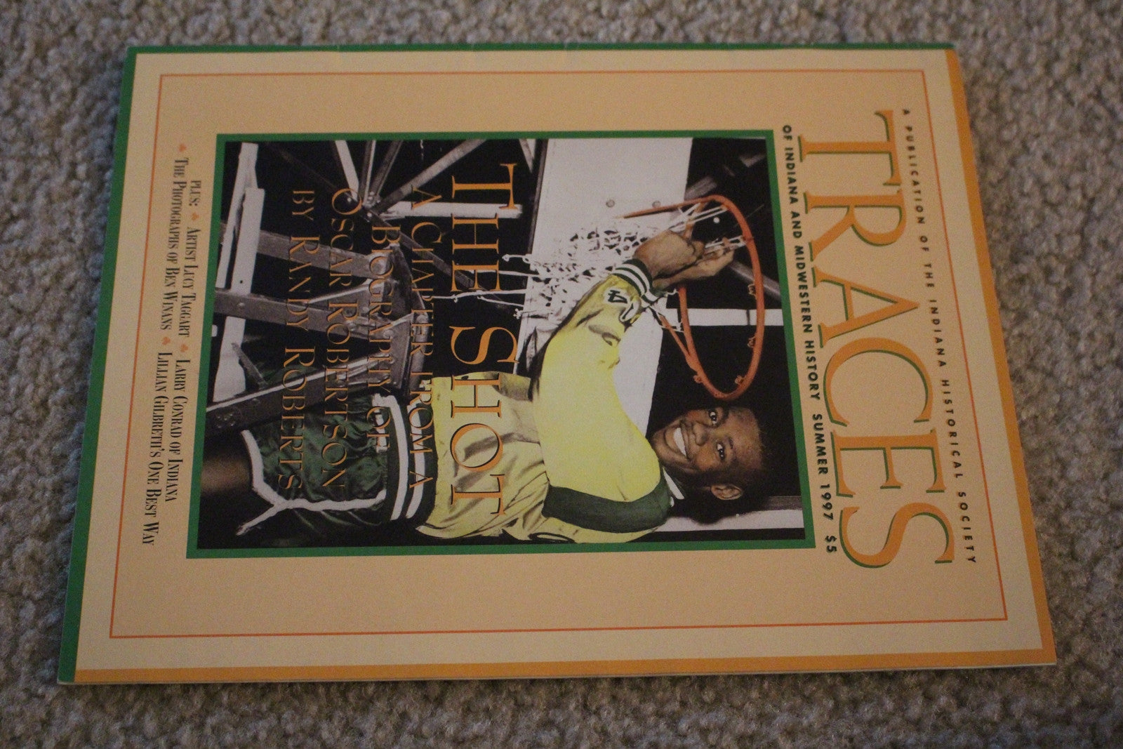 1997 Traces Indiana History Magazine, Oscar Robertson on Cover - Vintage Indy Sports
