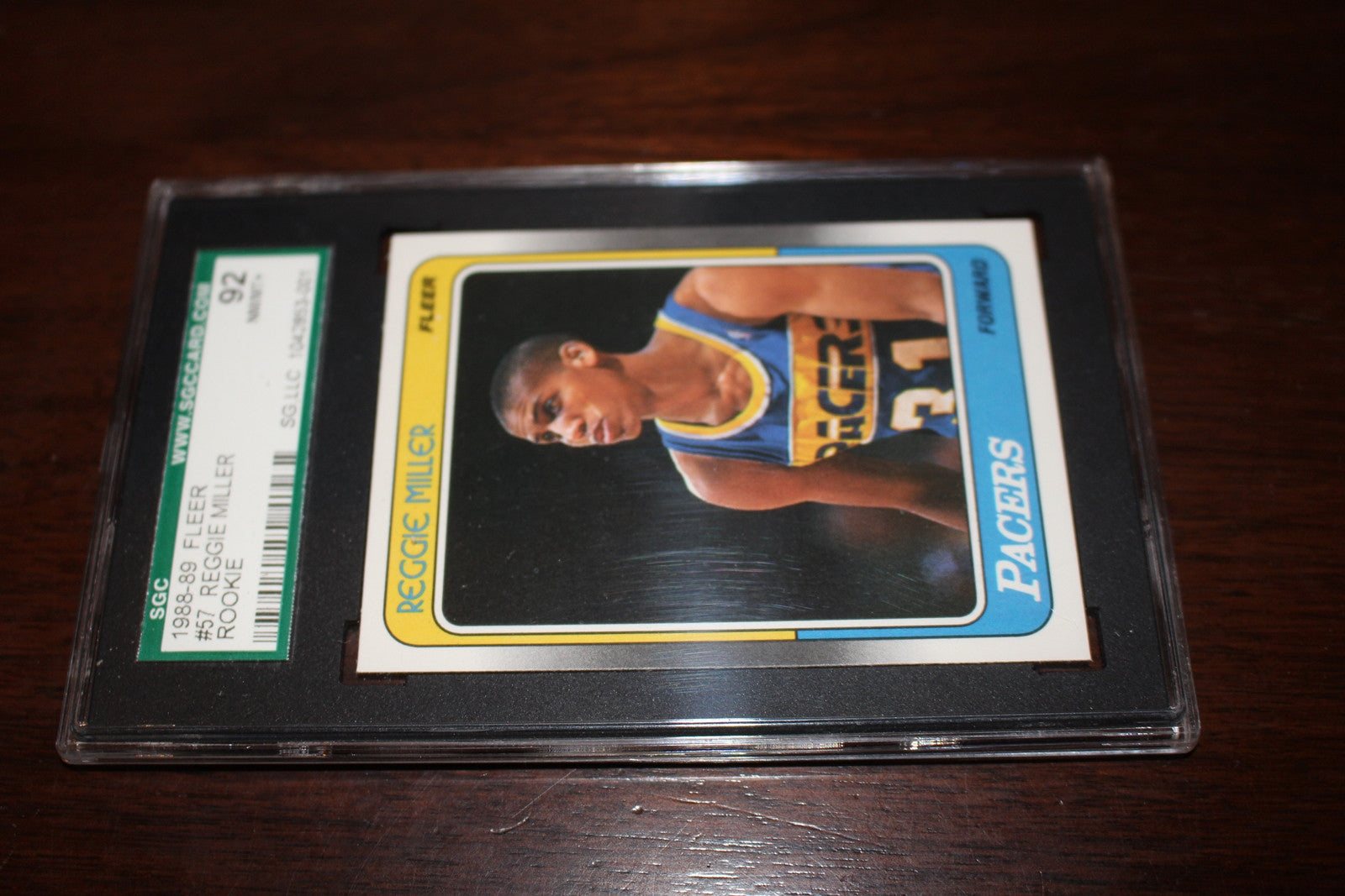 Reggie Miller Rookie Card, SGC 92 NM/Mt - Vintage Indy Sports