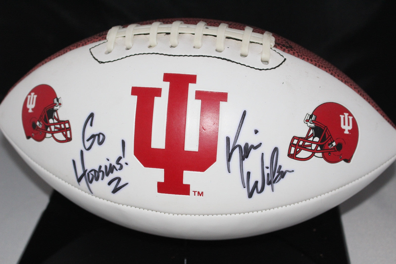 Kevin Wilson Autographed Indiana University Logo Football - Vintage Indy Sports